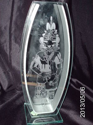 Glass Art - Kachina by Ralph Renick