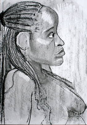 Drawing - Kaddie 2 by Joanne Claxton