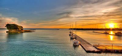 Kadena Marina Sunset Art Print by Chris Rose