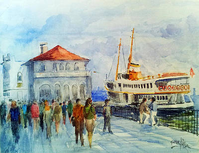 Kadikoy Ferry Arrives Art Print