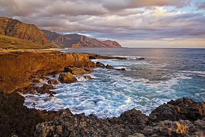 Beach Photograph - Ka'ena Point Sunset by Marcia Colelli