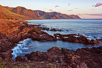 Mountain Photograph - Ka'ena Point Oahu Sunset by Marcia Colelli