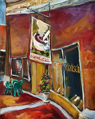 Downtown Huntsville Painting - Kaffe Klatsch by Carole Foret