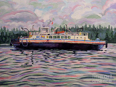 Kahloke The Hornby Ferry Art Print
