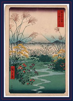 Color Field Drawing - Kai Outsuki No Hara by Utagawa Hiroshige Also And? Hiroshige (1797-1858), Japanese