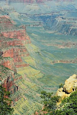 South Kaibab Trail Photograph - Kaibab Trail View Grand Canyon National Park by Shawn O'Brien