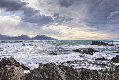 Canterbury Wall Art - Photograph - Kaikoura New Zealand In Stormy Weather by Colin and Linda McKie