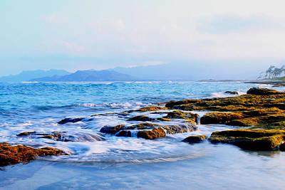 Kailua Bay Shoreline Art Print by Saya Studios