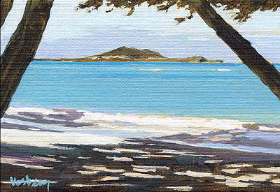 Kailua Beach Shadows Art Print by Stacy Vosberg