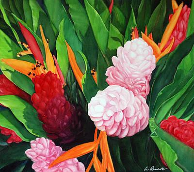 Kailua Farmer's Market Art Print by Luane Penarosa