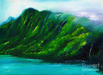 Painting - Kailua Hawaii by Donna Chaasadah