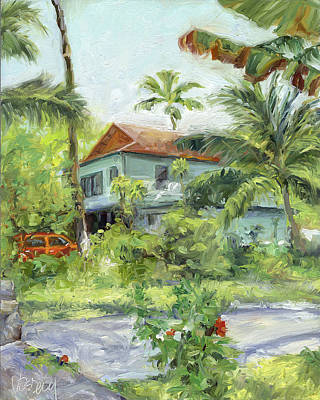 Haiku Wall Art - Painting - Kailua - Kona Hideaway by Stacy Vosberg