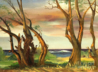 Painting - Kaina Point - Oahu Hi. by Art By Tolpo Collection