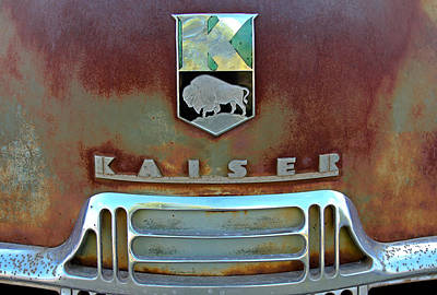 Rusty Car Photograph - Kaiser Vintage Grill by Tony Grider