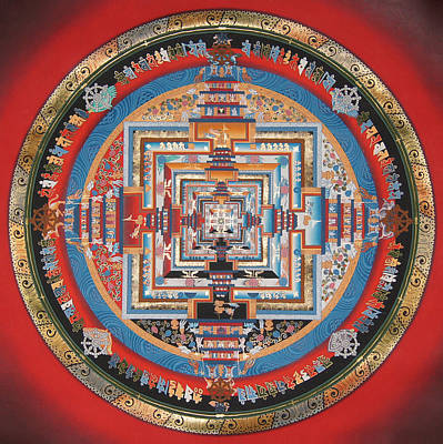 Thangka Painting - Kalachakra Mandala Thangka Art by Ts