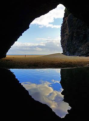 Kalalau Beach Photograph - Kalalau Beach Cave Kauai by Kevin Smith