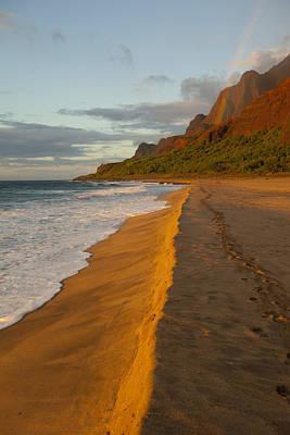 Kalalau Beach Photograph - Kalalau Beach by Douglas Peebles