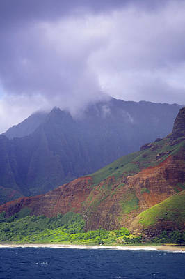 Photograph - Kalalau Heights by Morris  McClung