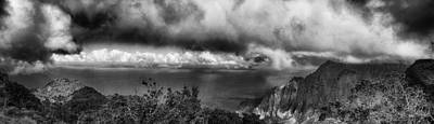 Outlook Photograph - Kalalau Outlook Black And White by Douglas Barnard