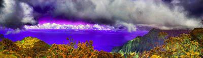 Outlook Photograph - Kalalau Outlook Colors by Douglas Barnard