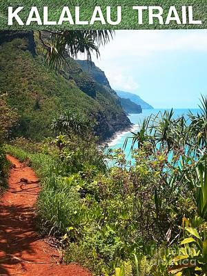 Kalalau Trail On Kauai Art Print by Joseph J Stevens