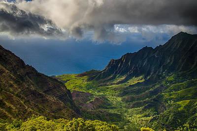 Photograph - Kalalau Valley by Ian Stotesbury