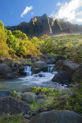 Photograph - Kalalau Valley Stream by Brian Harig