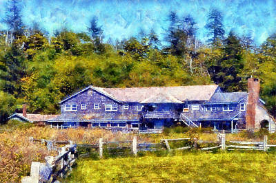 Digital Art - Kalaloch Lodge by Kaylee Mason