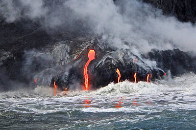 Lava Falls At Kalapana Art Print