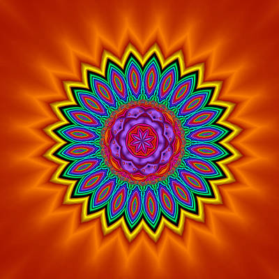 Kaleidoscope 1 Bright And Breezy Art Print by Faye Symons