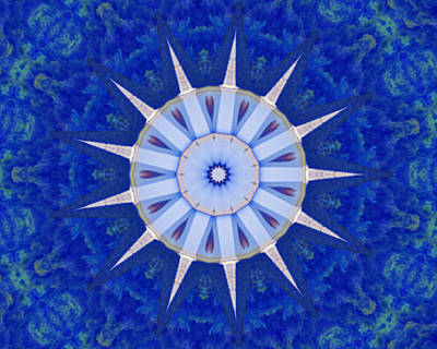 Photograph - Kaleidoscope Blue by Bill Barber