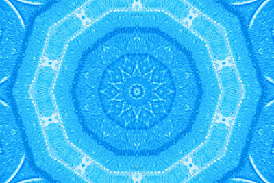 Kaleidoscope Blues Art Print by Paulette Maffucci