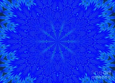 Kaleidoscope Blues Art Print by Suzanne Handel