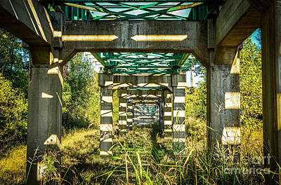 Photograph - Kaleidoscope Bridge by Peggy Franz