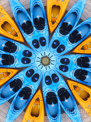 Kaleidoscope Canoes Art Print by Amy Cicconi