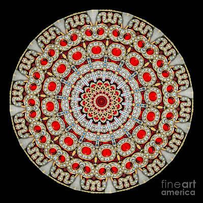 Kaleidoscope Colorful Jeweled Rhinestones Art Print