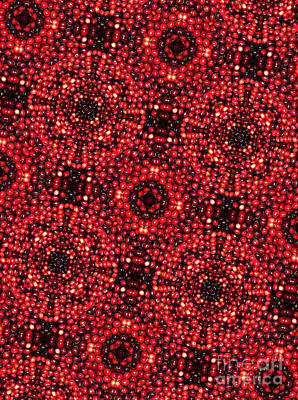 Kaleidoscope Cranberries Art Print by Amy Cicconi