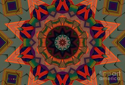 Digital Art - Kaleidoscope -emotions by Liane Wright