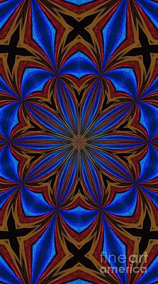 Kaleidoscope Feathers Four Art Print by Suzanne Handel