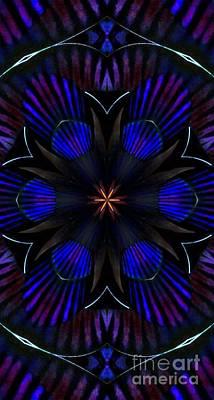 Kaleidoscope Feathers Three Art Print by Suzanne Handel