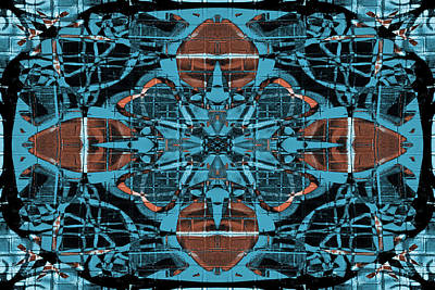 Digital Art - Kaleidoscope Flower 2 by Steve Ball