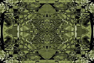 Digital Art - Kaleidoscope Flower 5 by Steve Ball