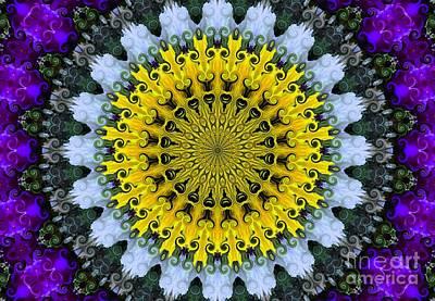 Kaleidoscope Flowers Art Print by Suzanne Handel