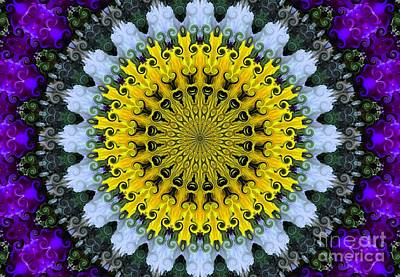 Kaleidoscope Flowers Art Print