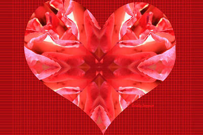Kaleidoscope Heart Art Print