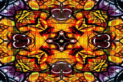 Digital Art - Kaleidoscope Hearts by Steve Ball
