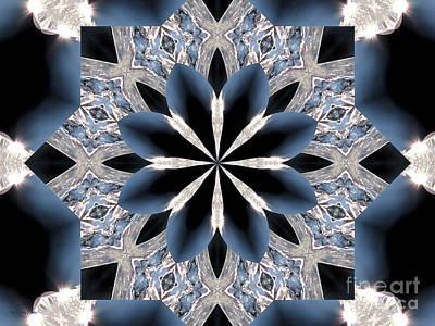 Winter Painting - Kaleidoscope Ice Star by Roxy Riou