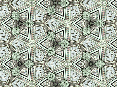 Photograph - Kaleidoscope In Light Green by Agnieszka Kubica