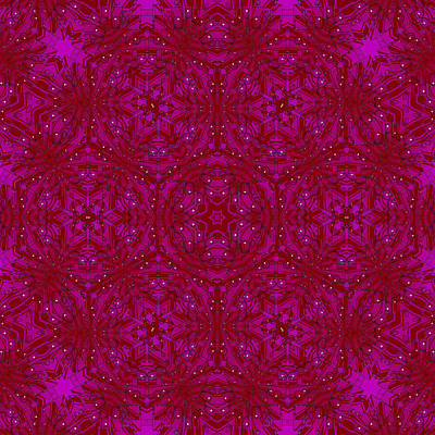 Kaleidoscope Into Mysterious Red Original by Tommytechno Sweden