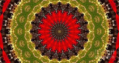 Kaleidoscope Leaves Art Print